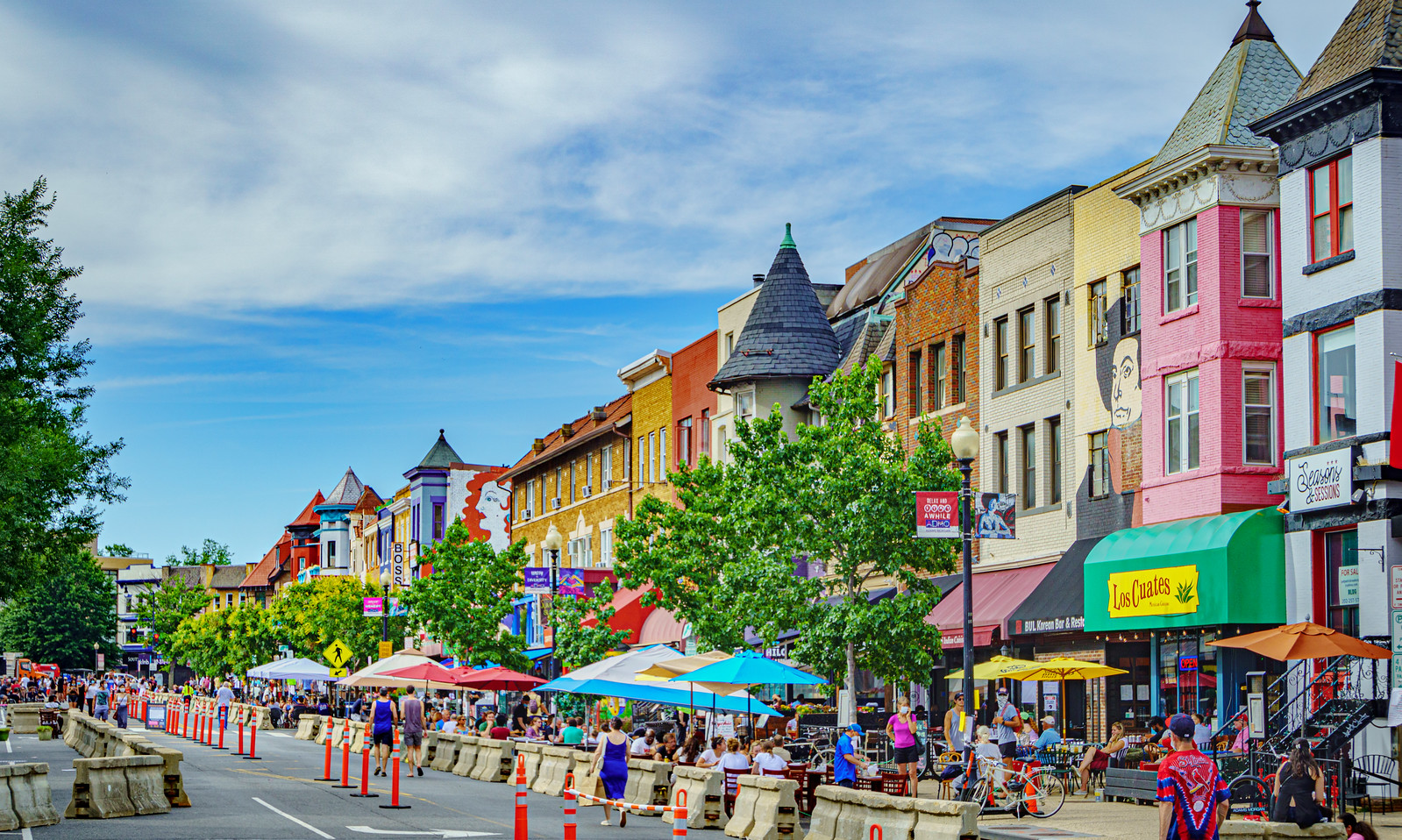Thanks for publishing my photos, in 18th Street in Adams Morgan was a pedestrian zone for one weekend in June. What happened? – Greater Greater Washington
