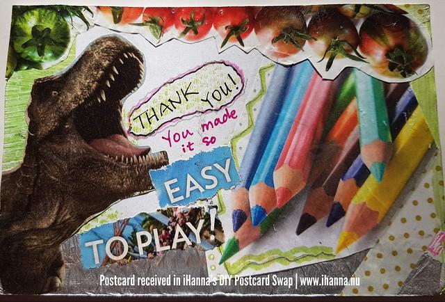 DIY postcard sent to iHanna, made by Maureen, US