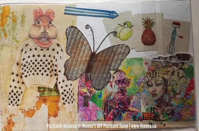 DIY postcard sent to iHanna, made by Kat, California, US