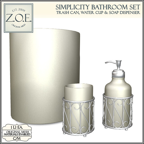 Z.O.E. Simplicity Bathroom Set