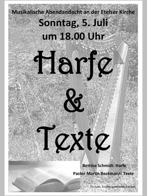 Harfe und Texte ..