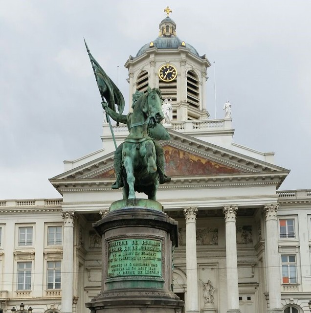 Estatua de Godofredo de Bouillon. Plaza Real (Bruselas)