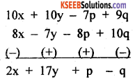 KSEEB Solutions for Class 8 Maths Chapter 2 Algebraic Expressions Additional Questions 1
