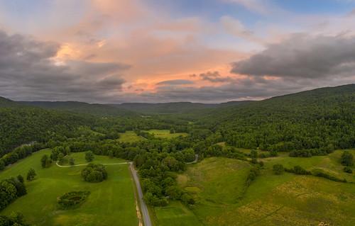 sunset bigbottom aerial drone mavic pro2 dji uppercumberland