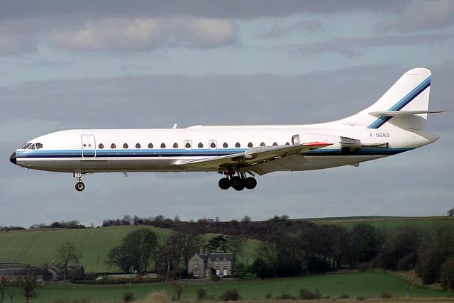 F-GGKD Air Service Nantes Sud-Aviation SE-210 Caravelle-10R at Edinburgh Turnhouse Airport on 8 March 1992