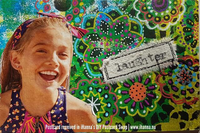 DIY postcard sent to iHanna, made by Lorie, Sedona, US