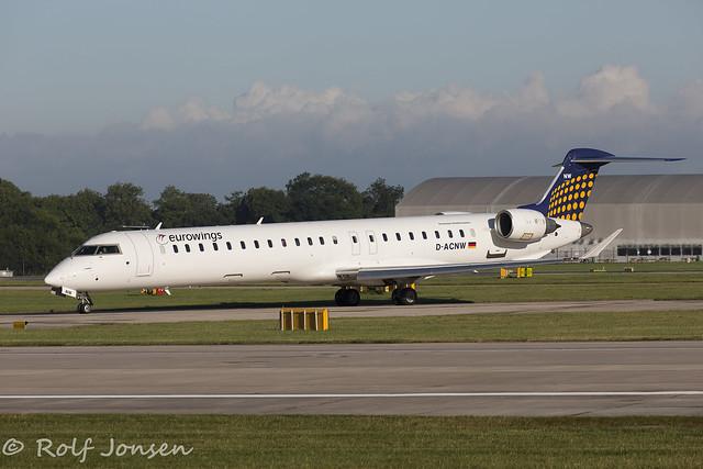D-ACNW Bombardier CRJ-900 Eurowings Manchester Airport EGCC 26.08-16