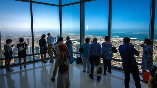 burjkhalifaobservationplatform dubai skyscraper view atthetop