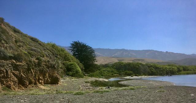 Lagoon at Arroyo de la Laguna, north coast of SLO County