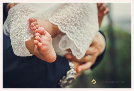 赤ちゃんの足の裏はカワイイ♡ ベビードレス