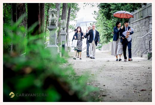 6月 雨のお宮参りもまた良し! 季節感のある写真になります!!