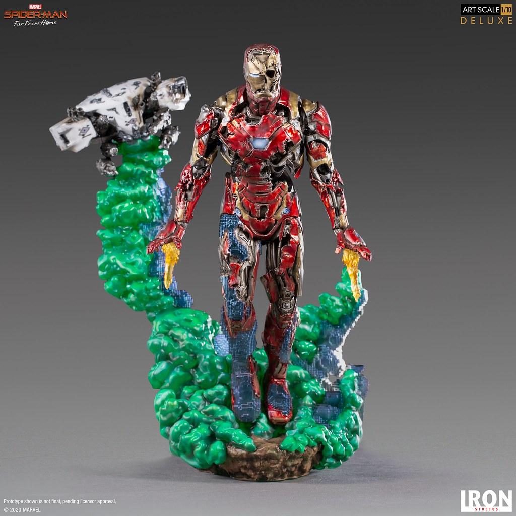 彼得心中揮之不去的夢魘襲來! Iron Studios《蜘蛛人:離家日》鋼鐵人幻象(Iron Man Illusion)豪華版 1/10 比例全身雕像