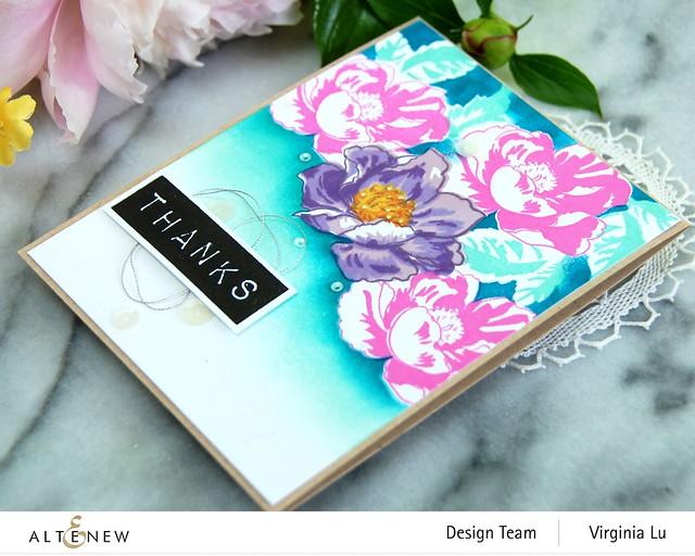 Altenew-Nature Blooms Stamp Set-Mask-Mega Label Love StampSet#3
