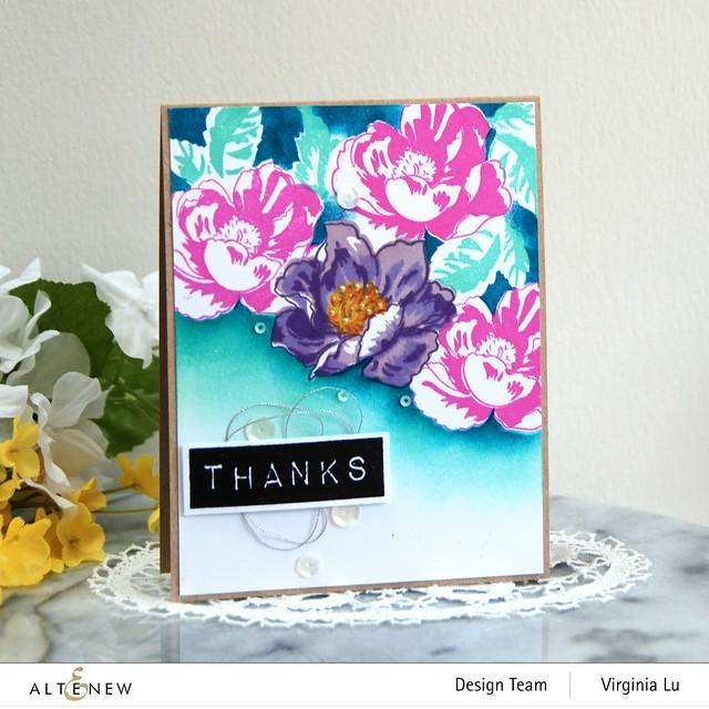 Altenew-Nature Blooms Stamp Set-Mask-Mega Label Love StampSet#1