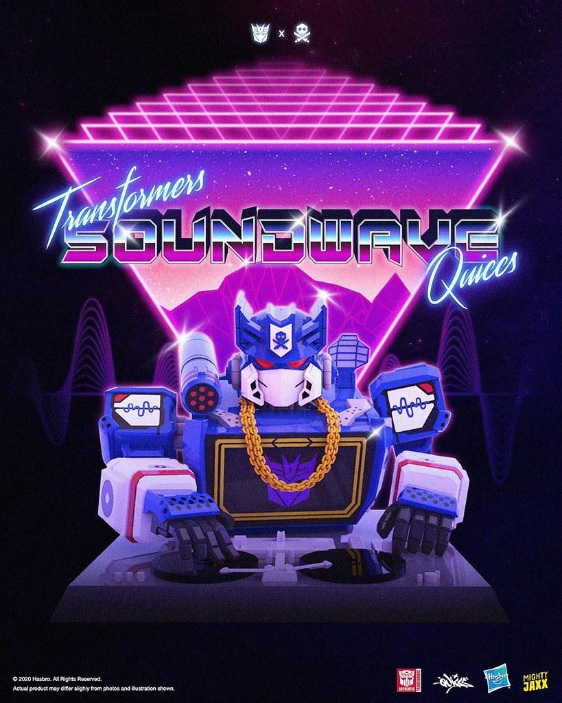 Quiccs × Hasbro × Mighty Jaxx《變形金剛》DJ 音波 (DJ_SOUNDWAVE) 半身胸像!讓狂派諜報大師化身最強 DJ 嗨翻全場~