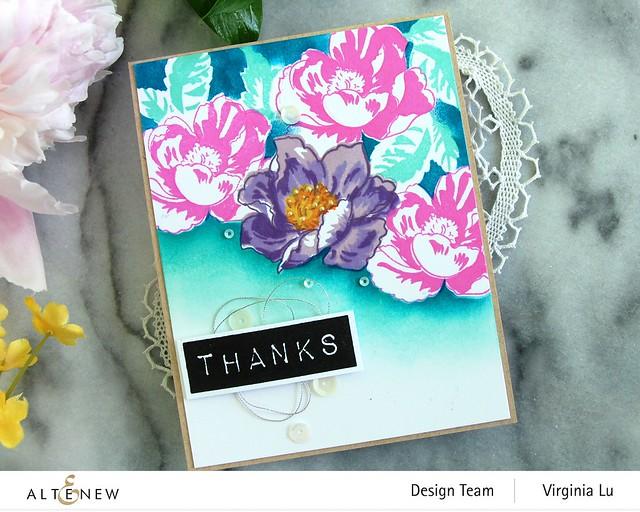 Altenew-Nature Blooms Stamp Set-Mask-Mega Label Love StampSet#4