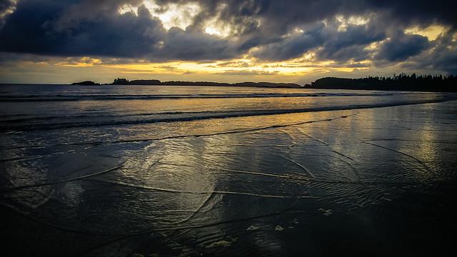 Beach Sunset Reflections