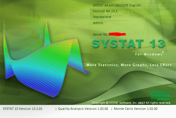 SYSTAT 13.2 full license