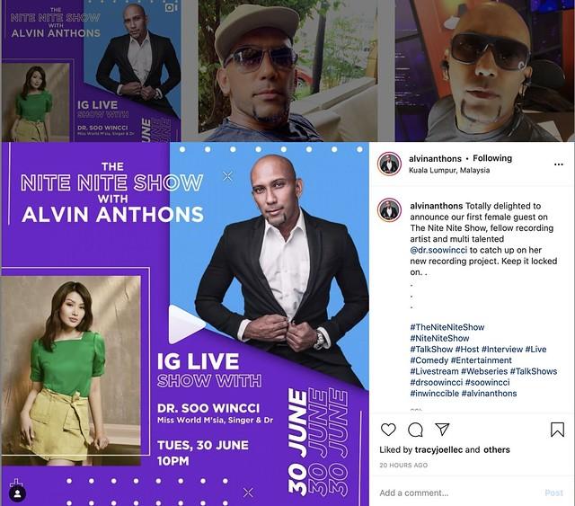 Soo Wincci Artis Jemputan di THE NITE NITE SHOW with Alvin Anthons