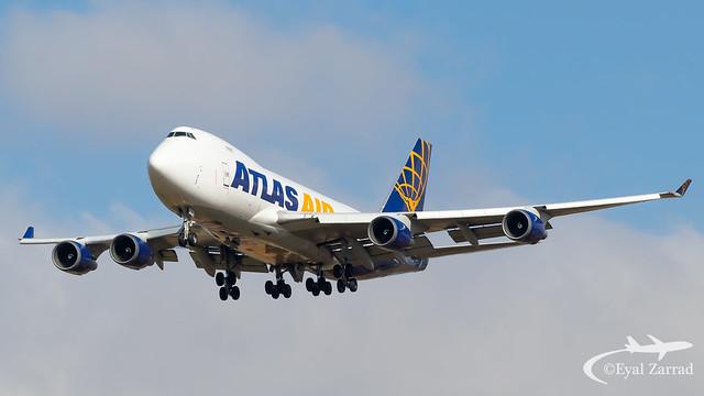 TLV - Atlas Air Boeing 747-400 Freighter N486MC