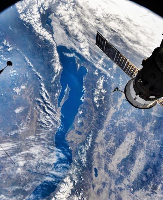 El lago Baikal desde la Estación Espacial Internacional