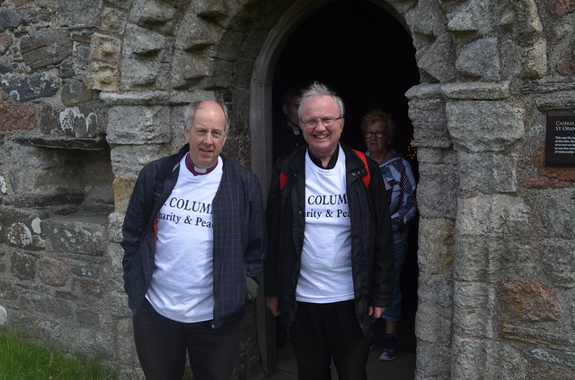 Bishop Good and Bishop McKeown retrace Saint Columba's footsteps on a pilgrimage to Iona in 2017.