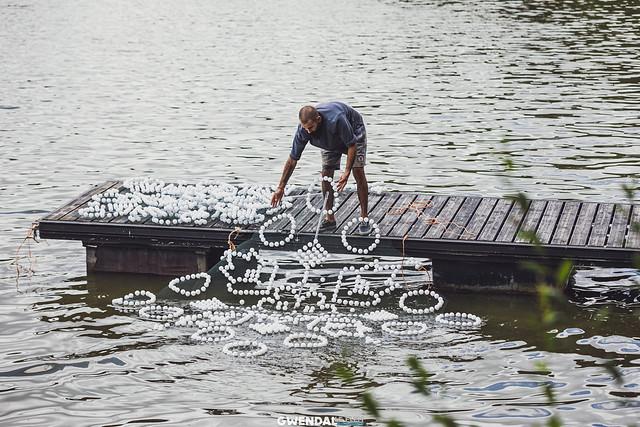 Îlots, œuvre flottante - Les Tracés d'ALI