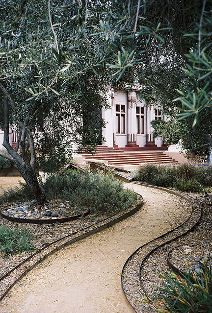 Curved Path of Rosicrucian Egyptian Museum