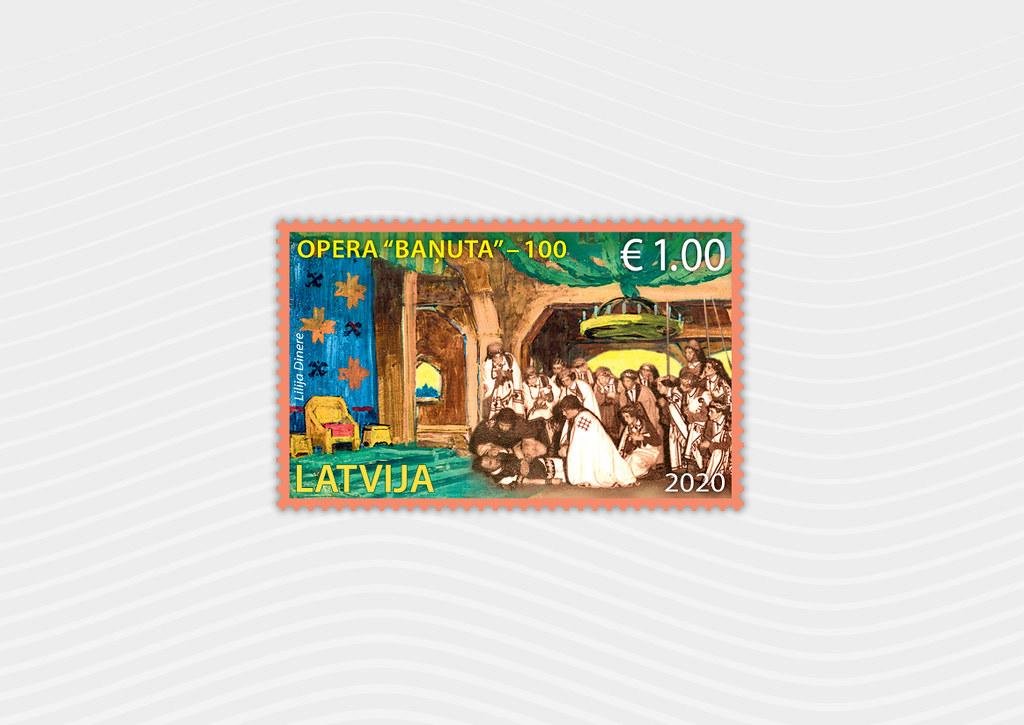 Pastmarka Opera Baņuta – 100 - Latvijas Pasts - Flickr