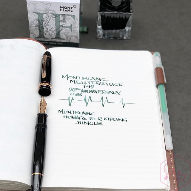 Montblanc Writer's Edition Homage to R. Kipling Jungle Green Ink 6_RWM