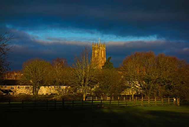 morning light - St Andrew's Church, Cullompton, Devon - Jan 2020