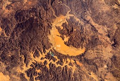 Asteroid impact crater
