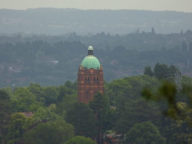 Old Watertower from Hollymoor Hospital from the Waseley Hills Country Park
