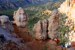 Rock Formations and Desert Lanscapes Viewed from Rainbow Point Vista - Bryce Canyon National Park, Southwestern Utah
