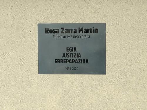 Rosi Zarra oroitu dute, bere heriotzaren 25. urteurrenean
