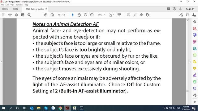 Animal eye detection