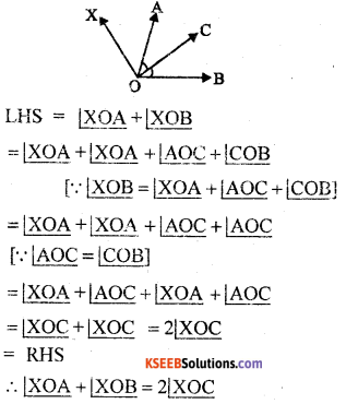 KSEEB Solutions for Class 8 Maths Chapter 3 Axioms, Postulates and Theorems Additional Questions 7