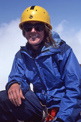 Climber on Mount Constance Summit