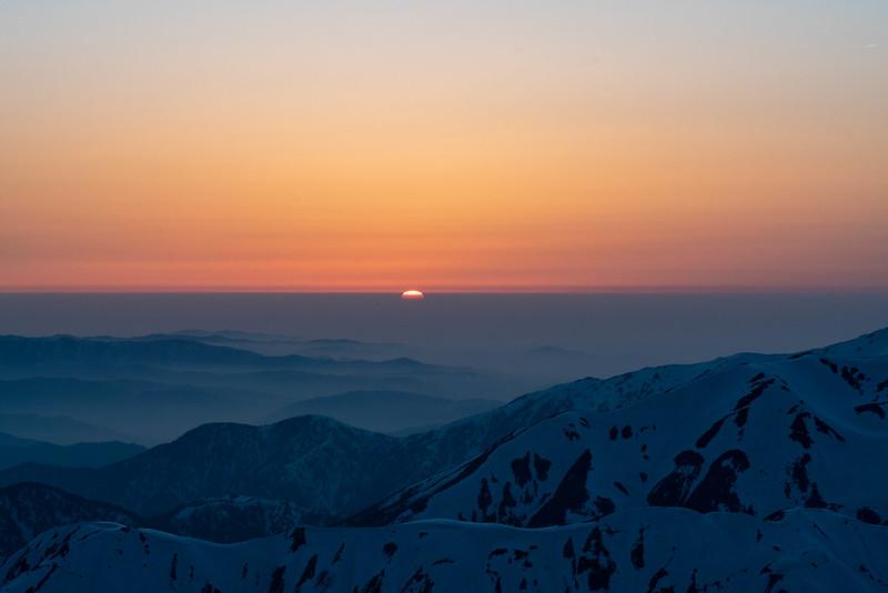 槍ヶ岳の夕焼け
