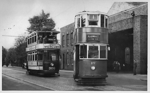 Leeds No's. 277 & 309 at Headingley Depot