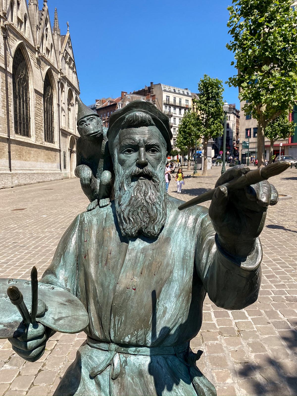 The statue of Pieter Bruegel in Brussels