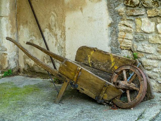 Tired Old Wooden Wheelbarrow