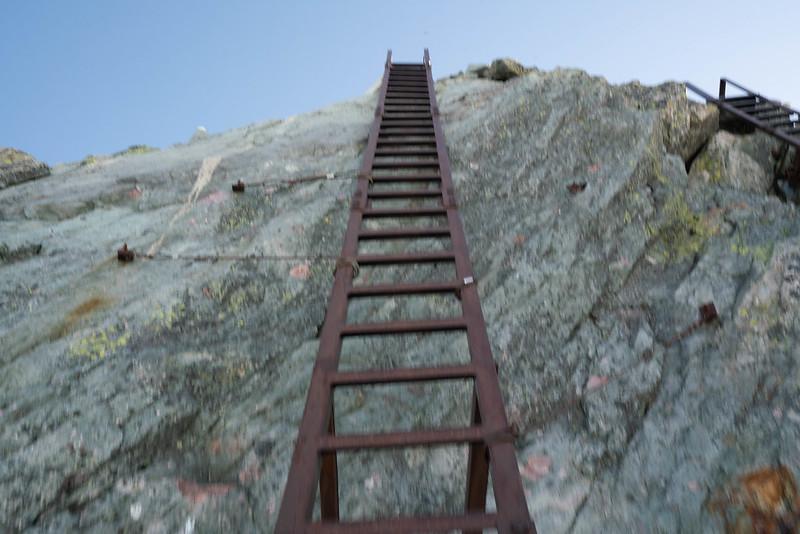 槍ヶ岳の梯子