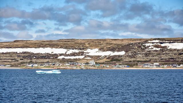 Blanc-Sablon, limite est de la Côte-Nord du Québec, Canada
