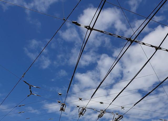 crazy clouds behind electrics