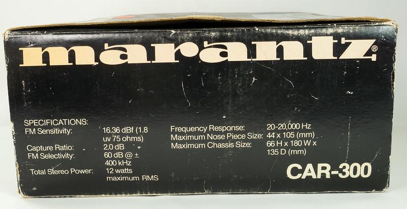 RD28745 Rare 1978 Silverface Marantz AM-FM Cassette Car Stereo CAR-300 in Original Box with Unused Faceplate DSC08545