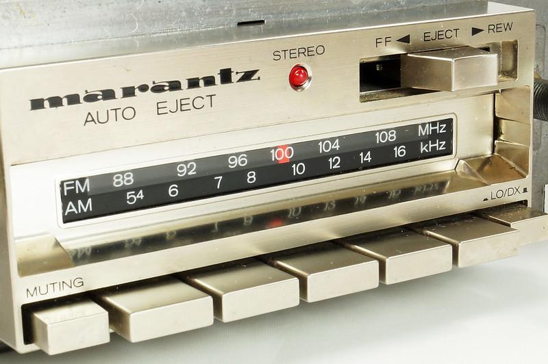 RD28745 Rare 1978 Silverface Marantz AM-FM Cassette Car Stereo CAR-300 in Original Box with Unused Faceplate DSC08539