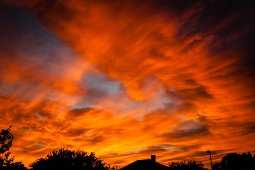 sunrise clouds sky light color pentax pentaxk100