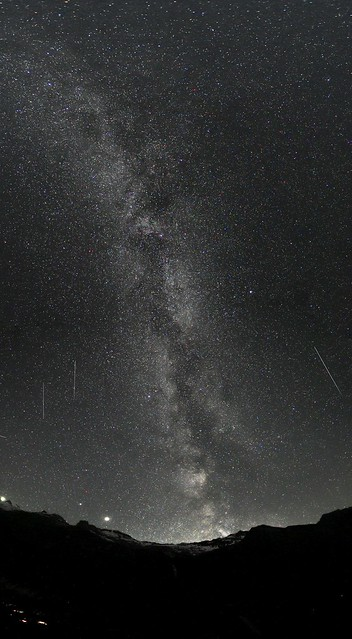 Milky Way over Kiental, Berner Oberland.