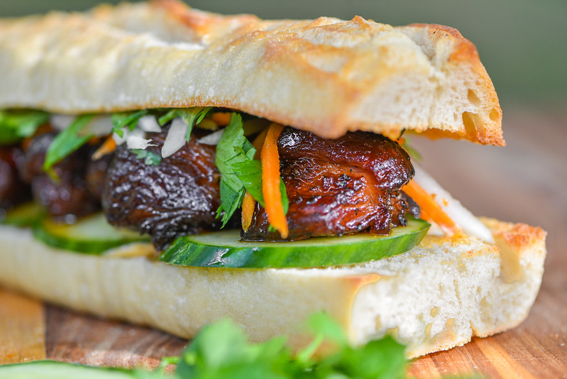 Pork Belly Burnt Ends Banh Mi